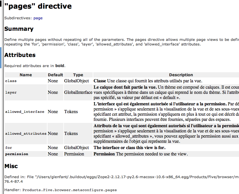"""The """"pages"""" directive"""